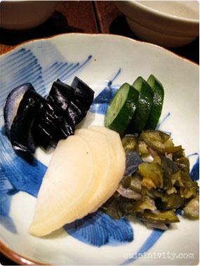 Japanese pickles (oshinko)