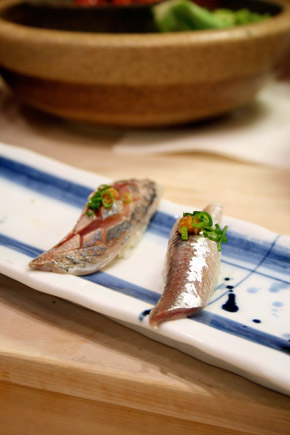 aji and iwashi nigiri