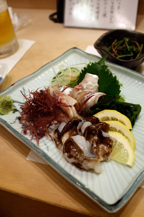 shell fish sashimi