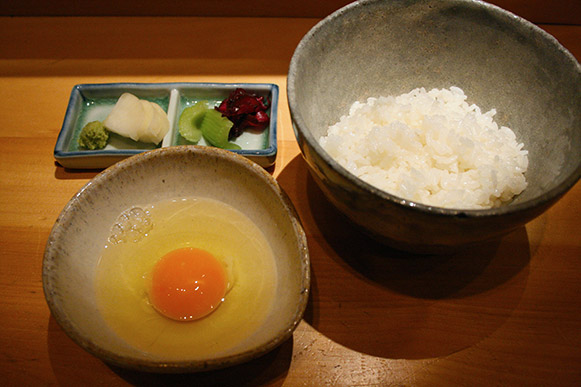 Tamago kake gohan (raw egg and rice)