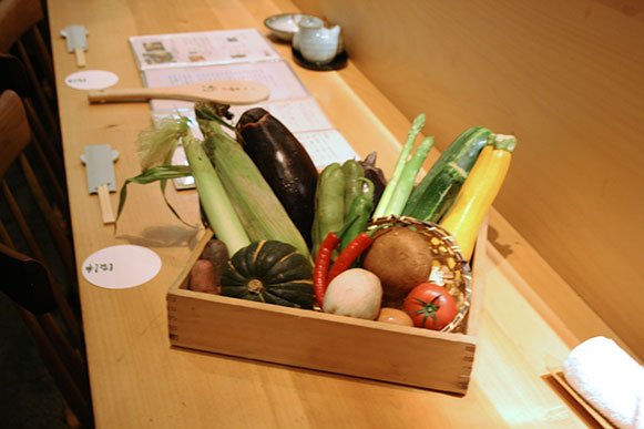 vegetables in tray
