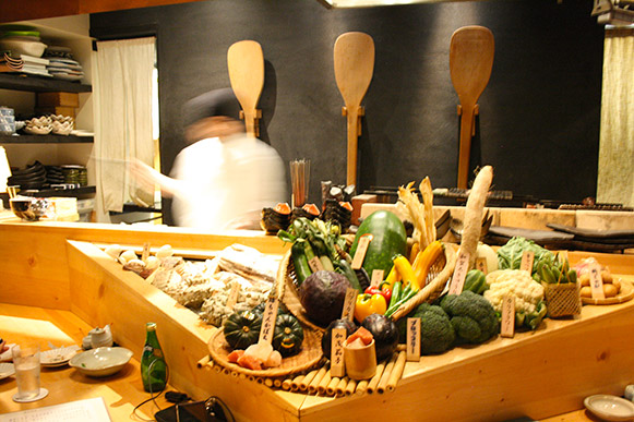 Vegetable display at Ichiro Ichie