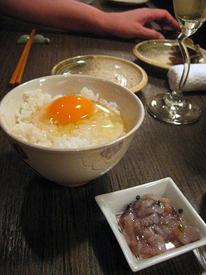 rice and Tanba Yamabuki egg