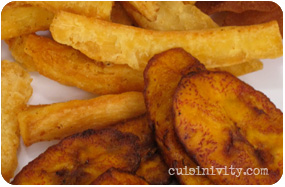 cassava and plantain  fries and