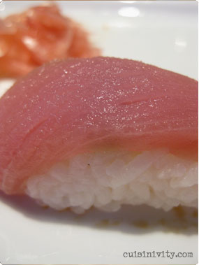 Tuna nigiri at Mamba Point Hotel