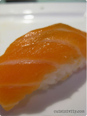 Salmon nigiri at Mamba Point