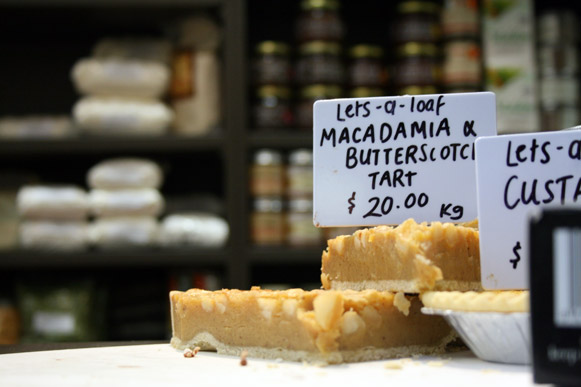 Macadamia and butterscotch tart!