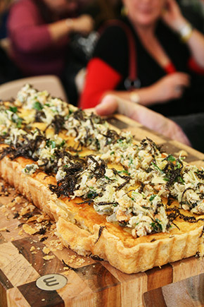 celeriac and truffle tart