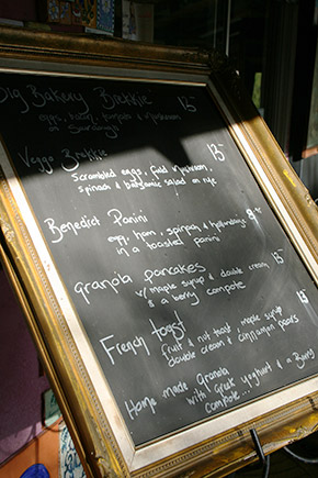 The Margaret River Bakery, special menu