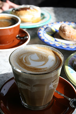 The Margaret River Bakery, soy latte