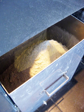 freshly made backwheat flour