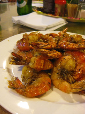 Fried shrimp with chinese spice