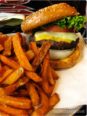 BGR's burger with sweet fries