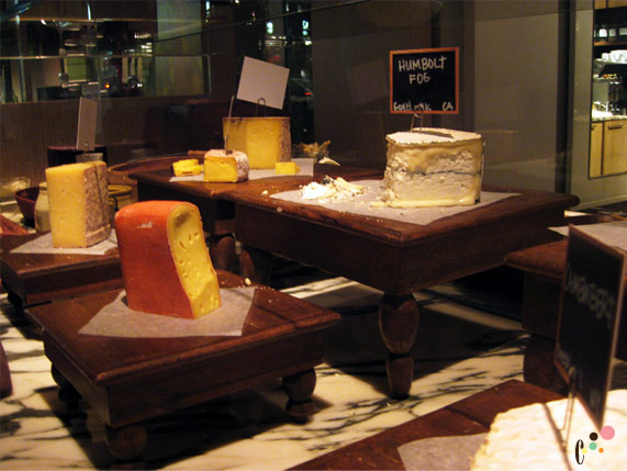 Blue Duck Tavern's Cheese Station