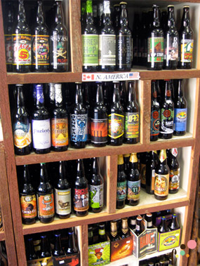 Carrboro Beverage Company beer shelf