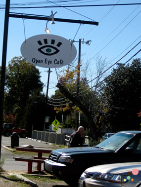 Open Eye Cafe front sign
