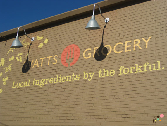 Watts Grocery Front Sign