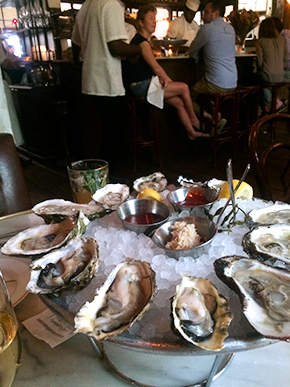 oyster happy hour at Maison Premiere