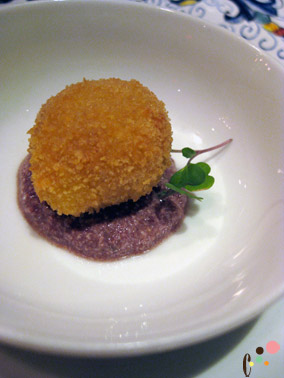 amuse bouche : pork belly beigneti