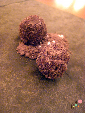 olive oil and chocolate truffle