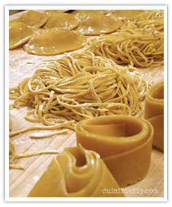 Homemade fresh pasta dough