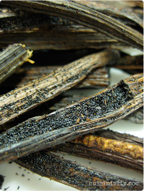 splited vanilla beans