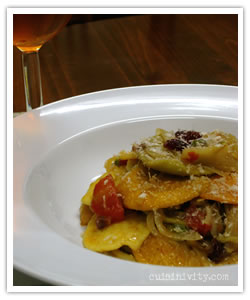 Pasta with Anchovies, Currants,  Fennel and Pine Nuts