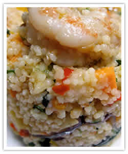 Couscous Salad with Lemon Harrisa Vinaigrette