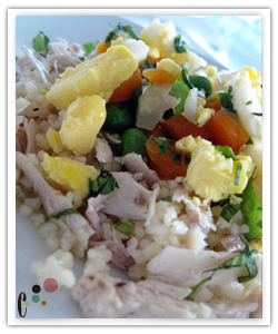 couscous with chicken and vegetables dog food