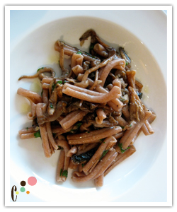 Wild mushroom with whole wheat pasta