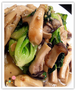 King Mushroom and Bok Choy Stir Fry
