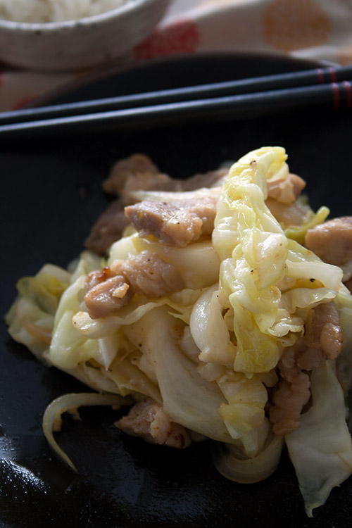 Pork and Cabbage stir Fry with Shiokoji