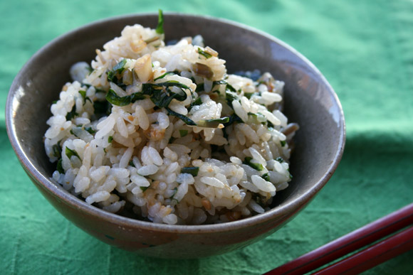 Miso and Ramp Rice