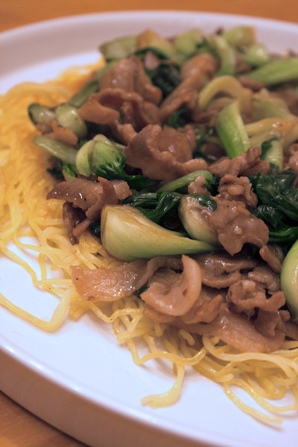 Pork and Pok Choi Ankake Yakisoba