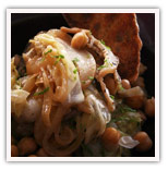 Braised Sliced Pork Belly with Cabbage and Chickpeas