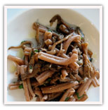 Wild mushroom with whole wheet pasta