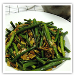 Green beans with almond and lemon
